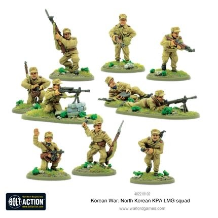 Warlord games Bolt Action: North Korea- KPA LMG Squad