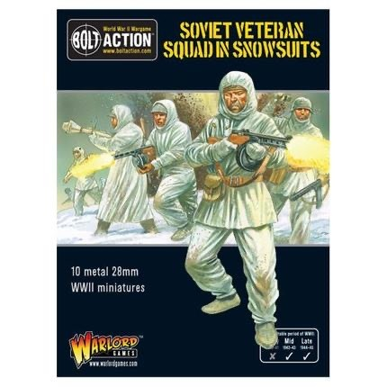 Warlord games Bolt Action: Soviet- Veteran Squad in Snowsuits