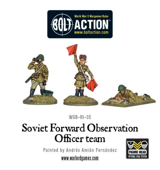 Warlord games Bolt Action: Soviet- Army Forward Observer Officiers