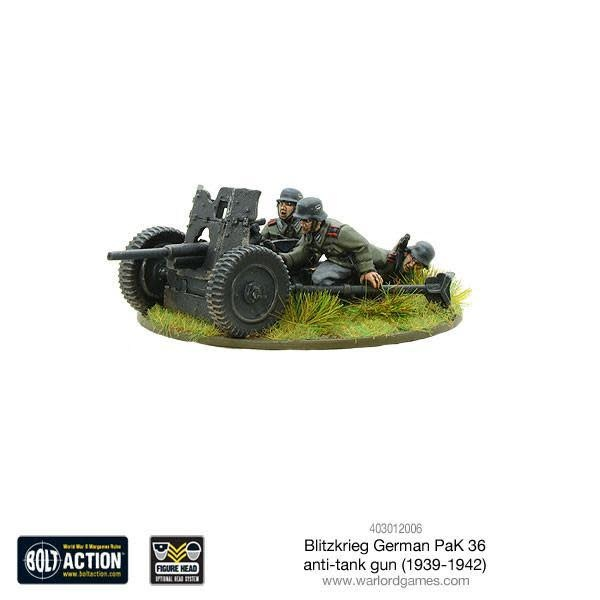 Warlord games Bolt Action: German- Blitzkrieg Pak 36 anti-tank gun