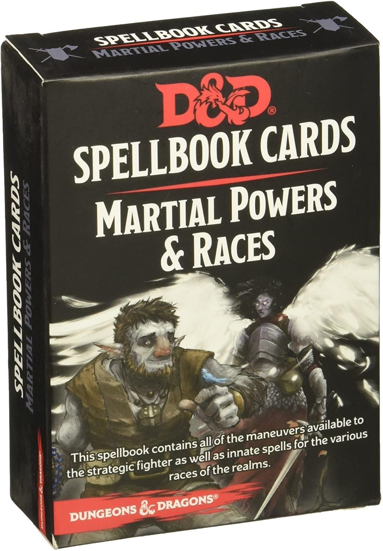 Gale Force Nine D&D RPG Spellbook Cards: Martial powers & Races Deck