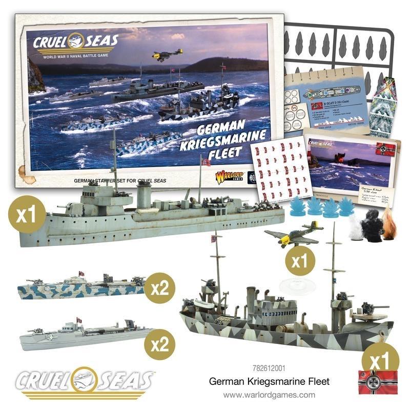 Warlord games Cruel Seas: German Kriegsmarine Fleet