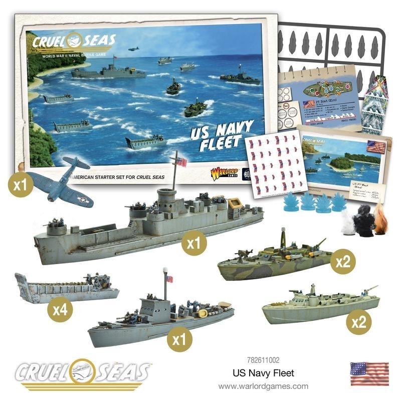 Warlord games Cruel Seas: US Navy Fleet