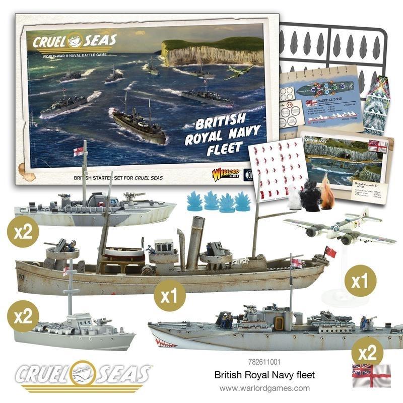 Warlord games Cruel Seas: British Royal Navy Fleet