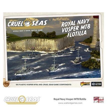 Warlord games Cruel Seas: Royal Navy Vosper MTB Flotilla