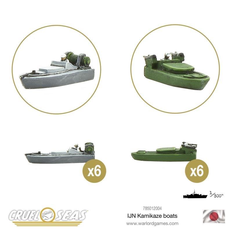 Warlord games Cruel Seas: Japanese Kamikaze Boats