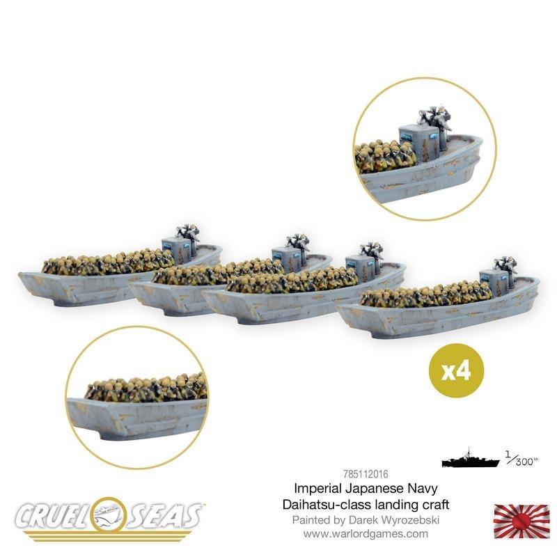 Warlord games Cruel Seas: Japanese Daihatsu Landing Craft