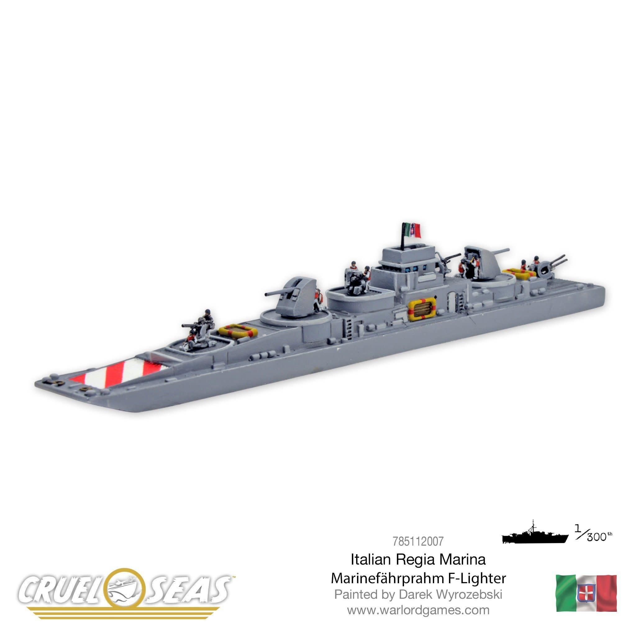 Warlord games Cruel Seas: Italian Marinefahrprahm F-Lighter
