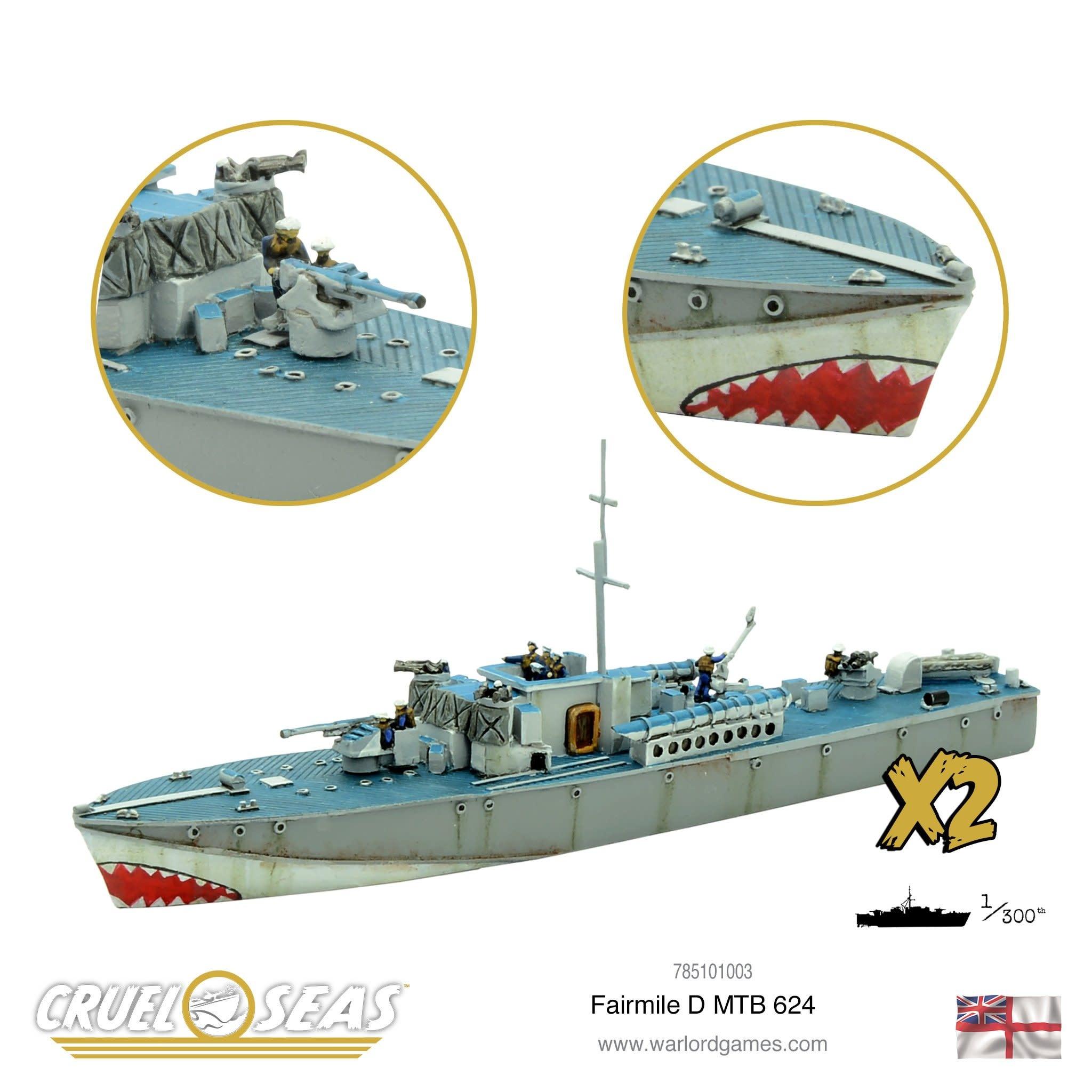Warlord games Cruel Seas: British Fairmile D class MGB/MTB 624