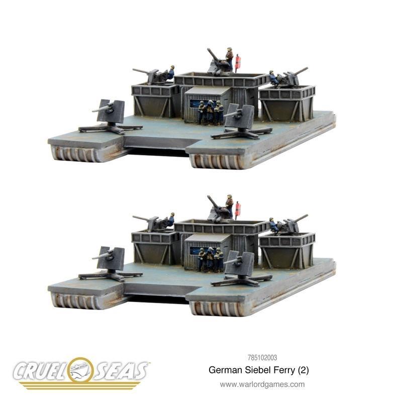 Warlord games Cruel Seas: German Siebel Ferries