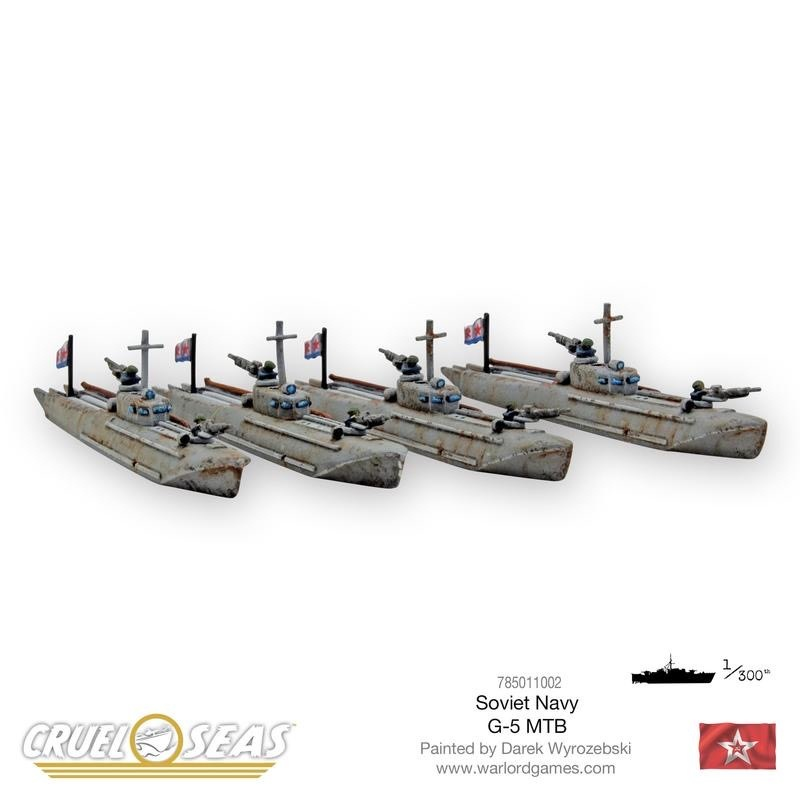 Warlord games Cruel Seas: Soviet G-5 MTB's