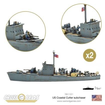 Warlord games Cruel Seas: US Coastal Cutter Subchaser