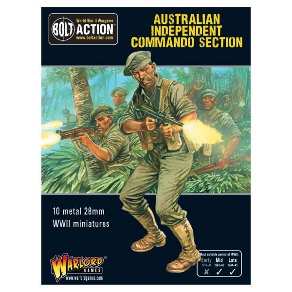 Warlord games Bolt Action: Australian- Independent Commando Section