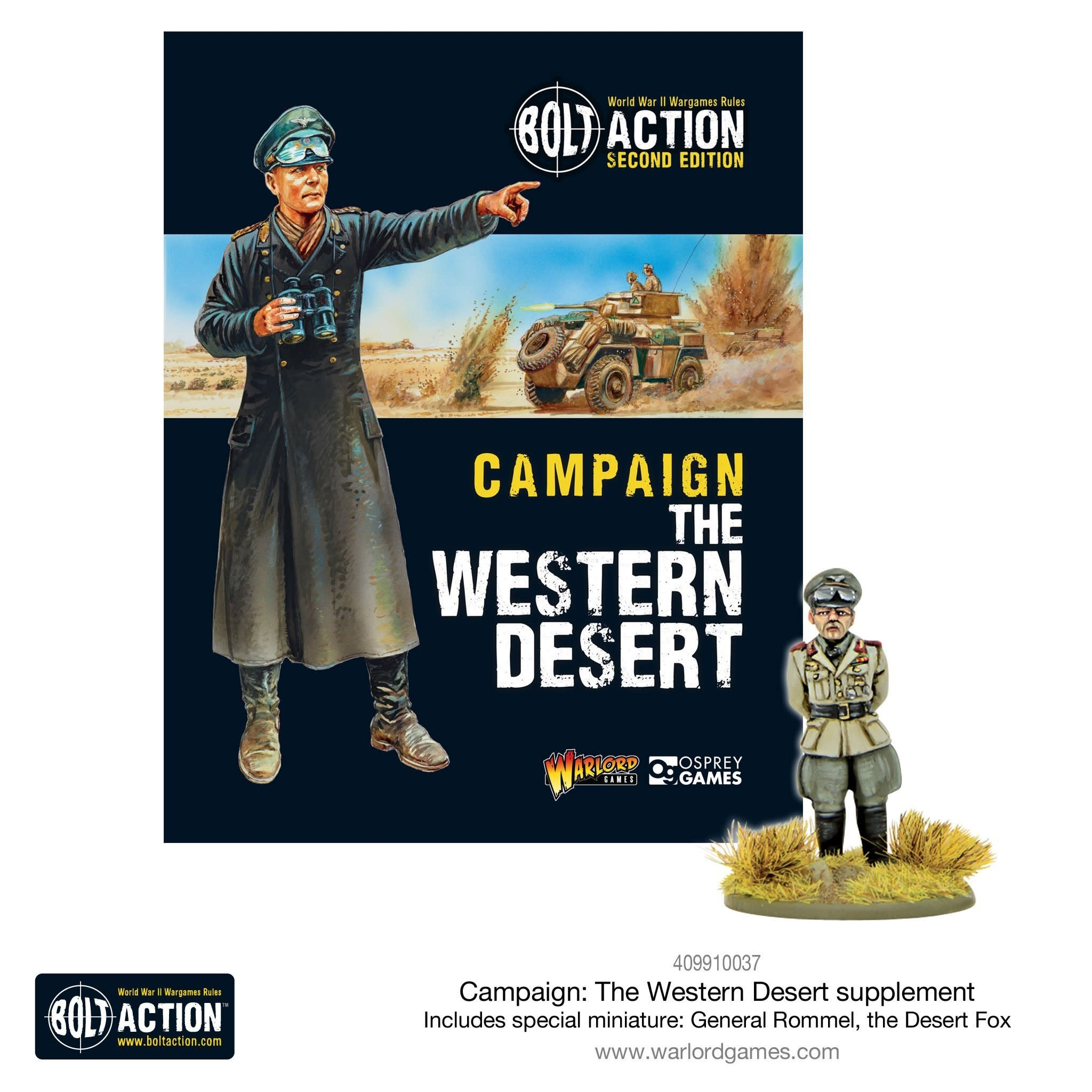 Warlord games Bolt Action: Campaign- Western Desert with Mini (paperback)