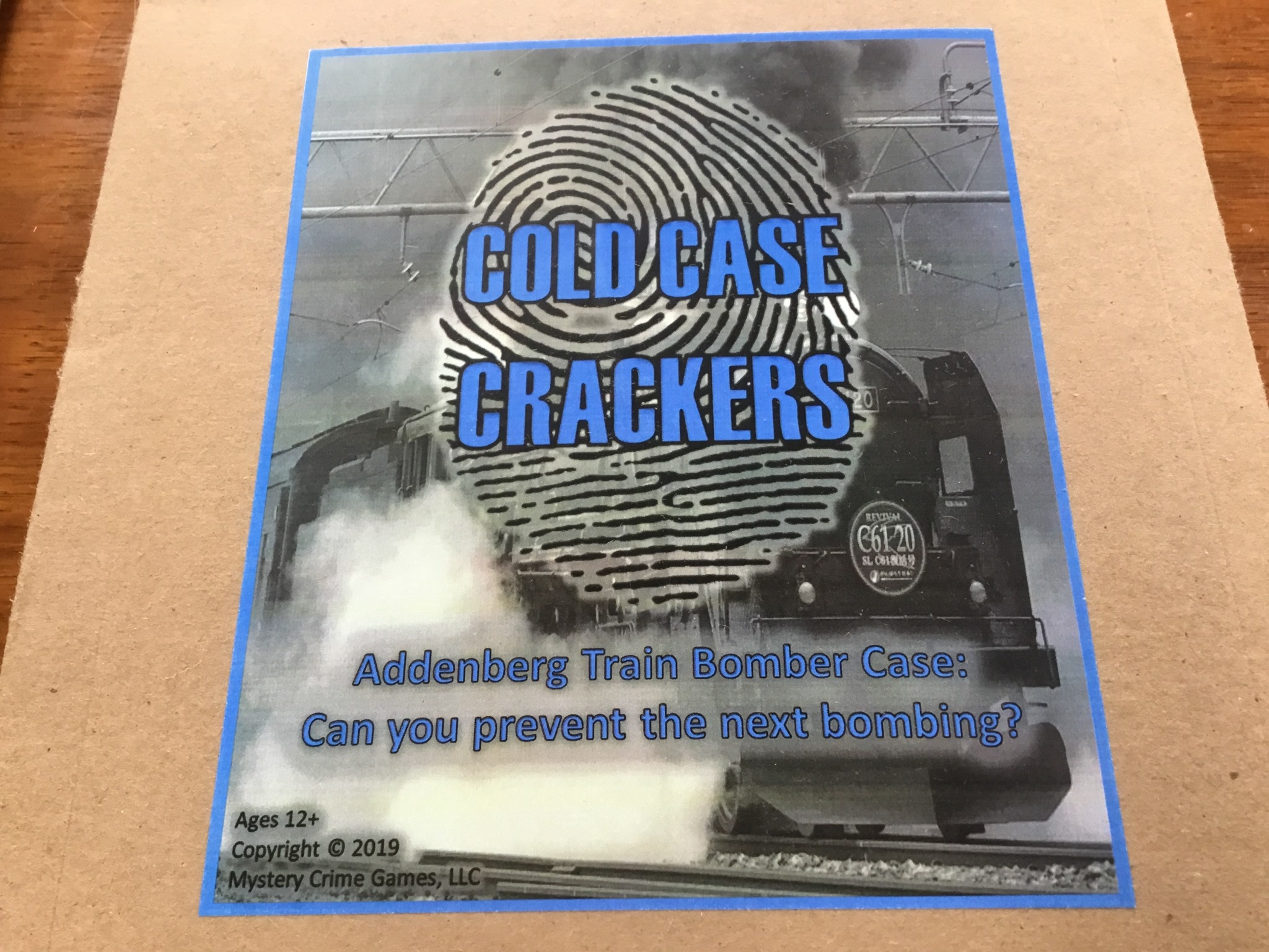 Mystery Crime Games Cold Case Crackers: Addenberg Train Bomber