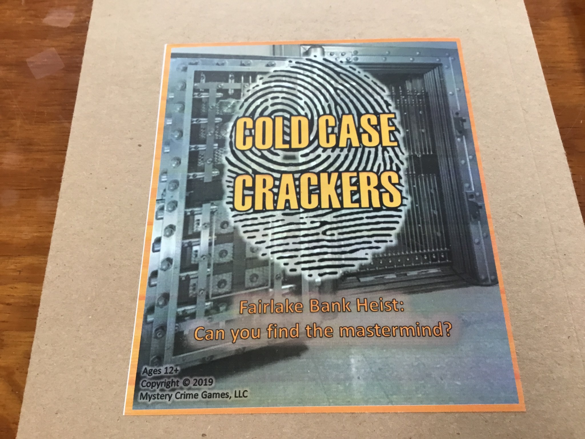 Mystery Crime Games Cold Case Crackers: Fairlake Bank Heist