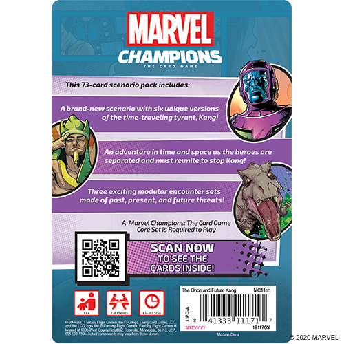 Fantasy Flight Marvel Champions: The Once and Future Kang Scenario Pack
