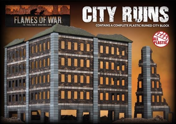 Gale Force Nine Flames of War Terrain: City Ruins