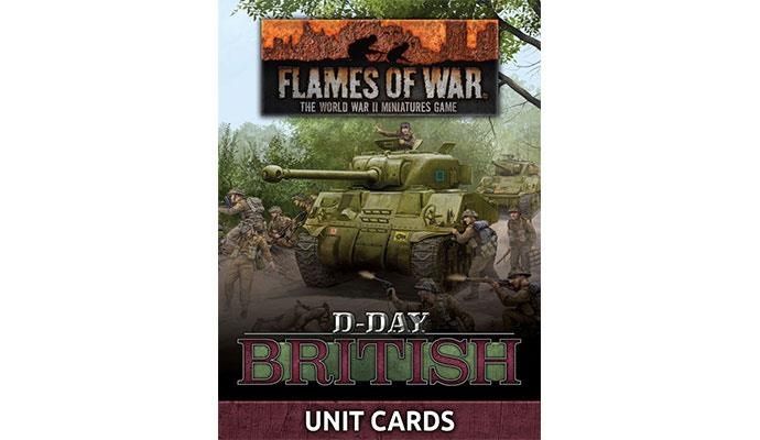 Flames of War Flames of War Unit Cards: D-Day British