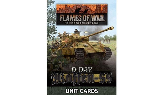 Flames of War Flames of War Unit Cards: D-Day Waffen-SS