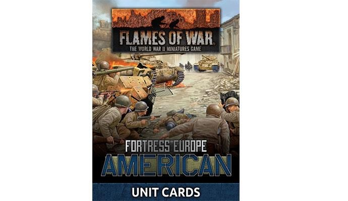 Flames of War Flames of War Unit Cards: Fortress Europe- American