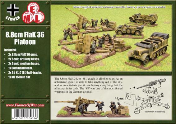 Flames of War Flames of War: German- 8.8cm FlaK36 Battery (Mid-late)