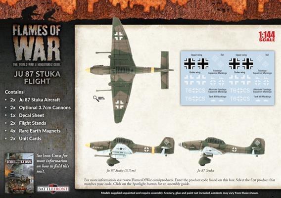 Flames of War Flames of War: German- JU 87 Stuka Flight (mid)