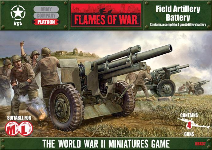 Flames of War Flames of War: USA- Field Artillery Battery (mid-late)