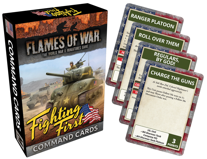 Flames of War Flames of War Command Cards: Fighting First