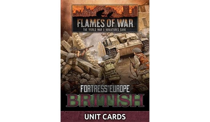 Flames of War Flames of War Unit Cards: Fortress Europe- British