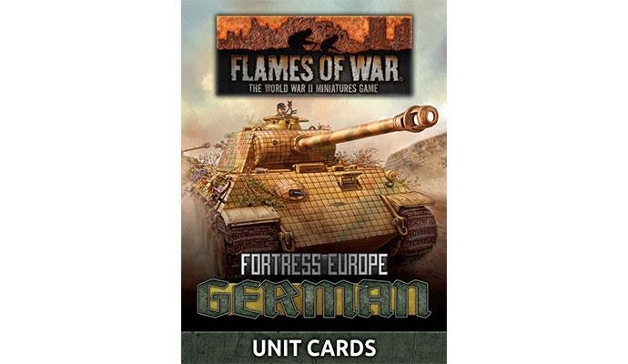 Flames of War Flames of War Unit cards: Fortress Europe- German