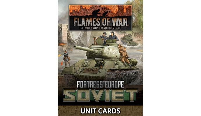 Flames of War Flames of War Unit cards: Fortress Europe- Soviet
