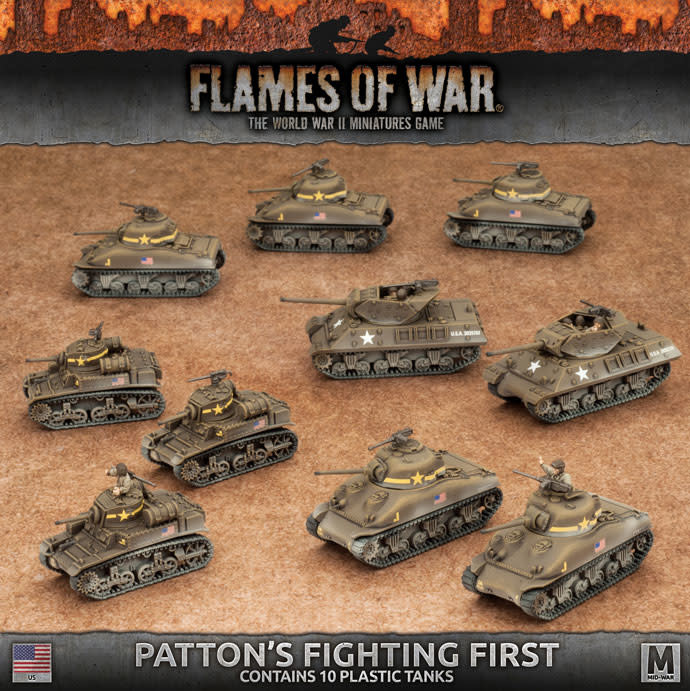 Flames of War Flames of War: USA- Patton's Fighting First (mid)