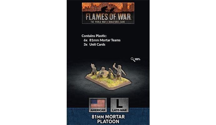 Flames of War Flames of War: US- 81mm Mortar Platoon (Late)