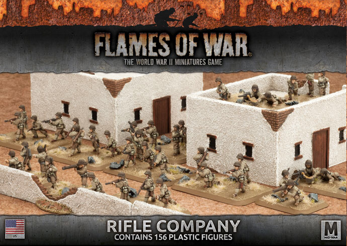 Flames of War Flames of War: USA- Rifle Company (mid)