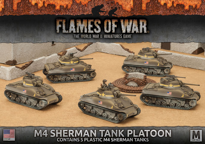 Flames of War Flames of War: USA- M4 Sherman Tank Platoon (Mid)