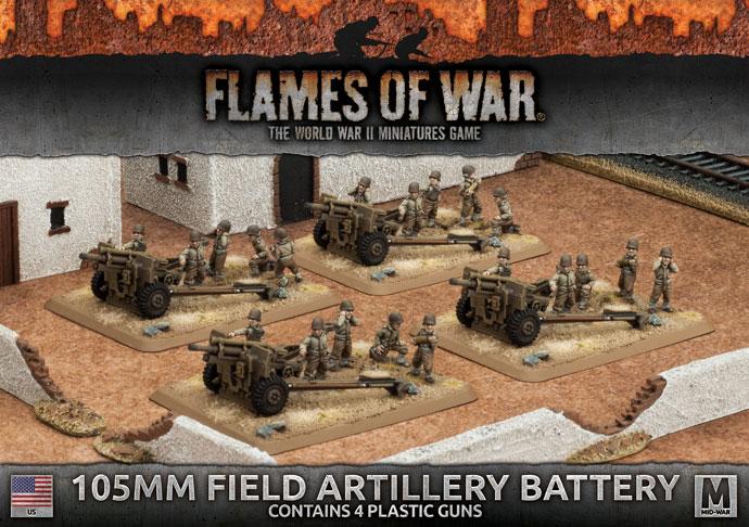 Flames of War Flames of War: USA- 105mm Field Artillery Battery (mid)