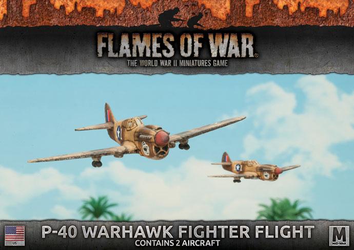 Flames of War Flames of War: USA- P-40 Warhawk Fighter Flight (mid)