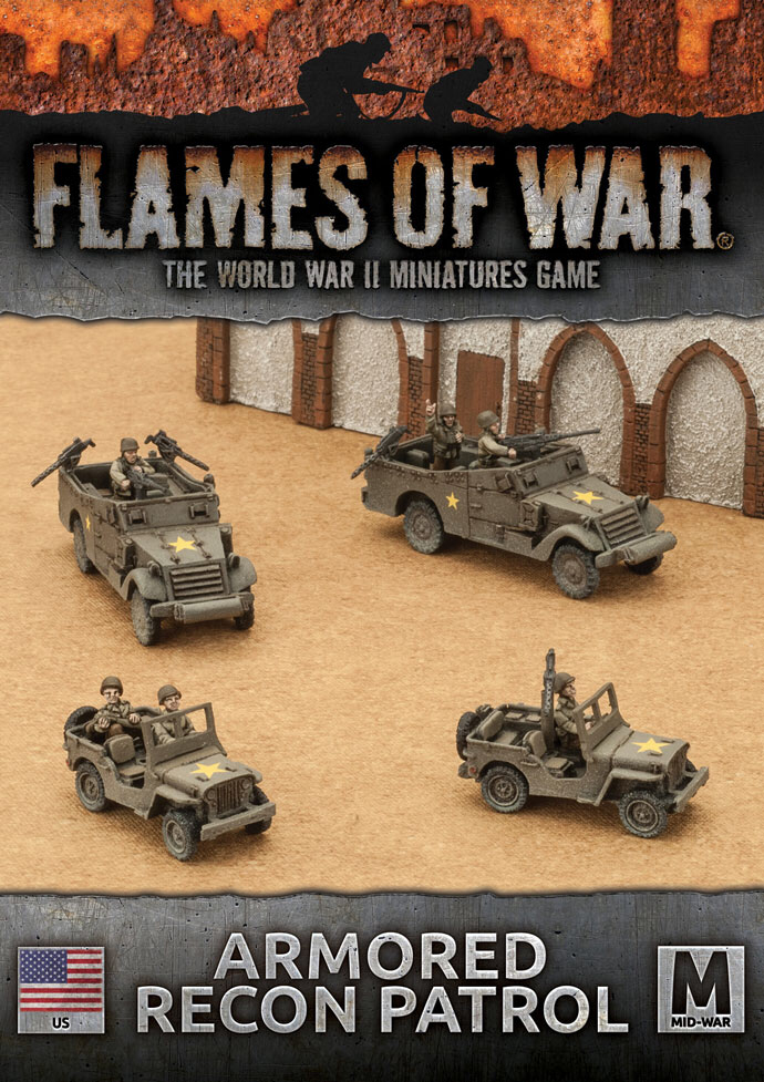 Flames of War Flames of War: USA- Armored Recon Patrol (mid)