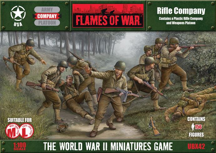 Flames of War Flames of War: USA- Rifle Company (plastic) (Mid-late)