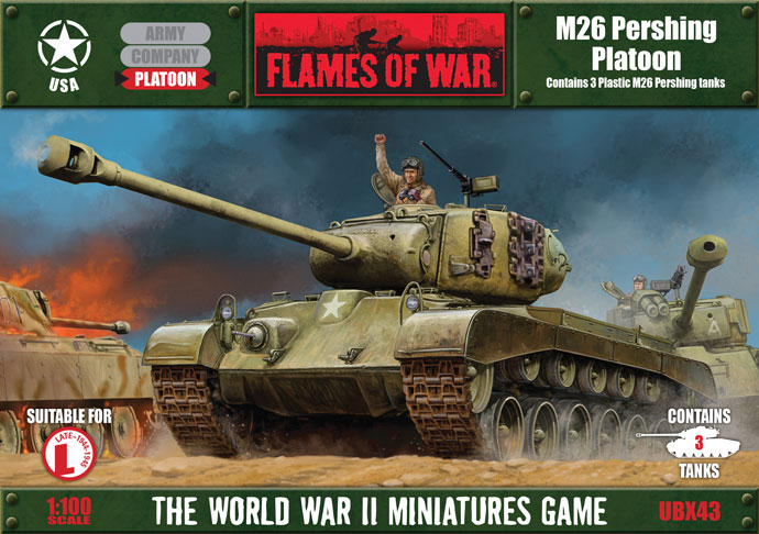 Flames of War Flames of War: USA- Pershing Platoon (plastic) (late)