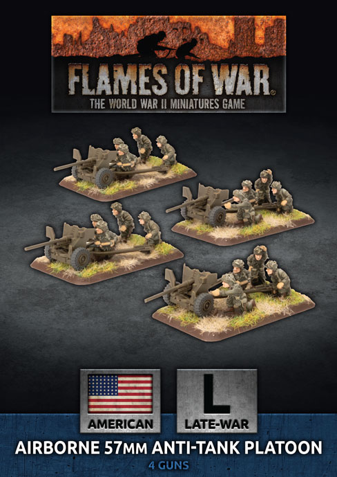 Flames of War Flames of War: USA- Airborne 57mm Anti-tank Platoon (late)