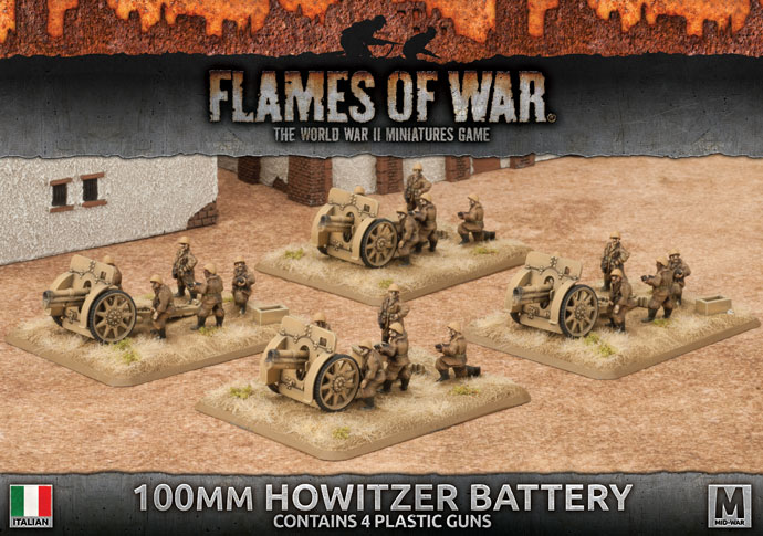 Flames of War Flames of War: Italy- 100mm Howitzer Battery (mid)