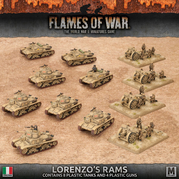Flames of War Flames of War: Italy- Lorenzo's Rams Army (mid)