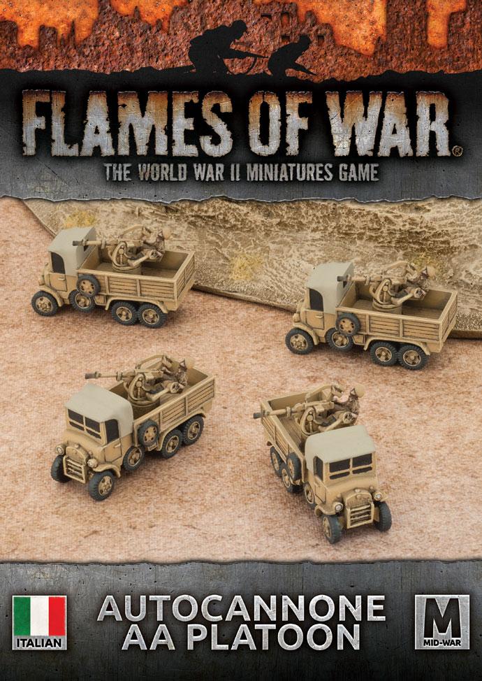 Flames of War Flames of War: Italy- Autocannone AA Platoon (mid)