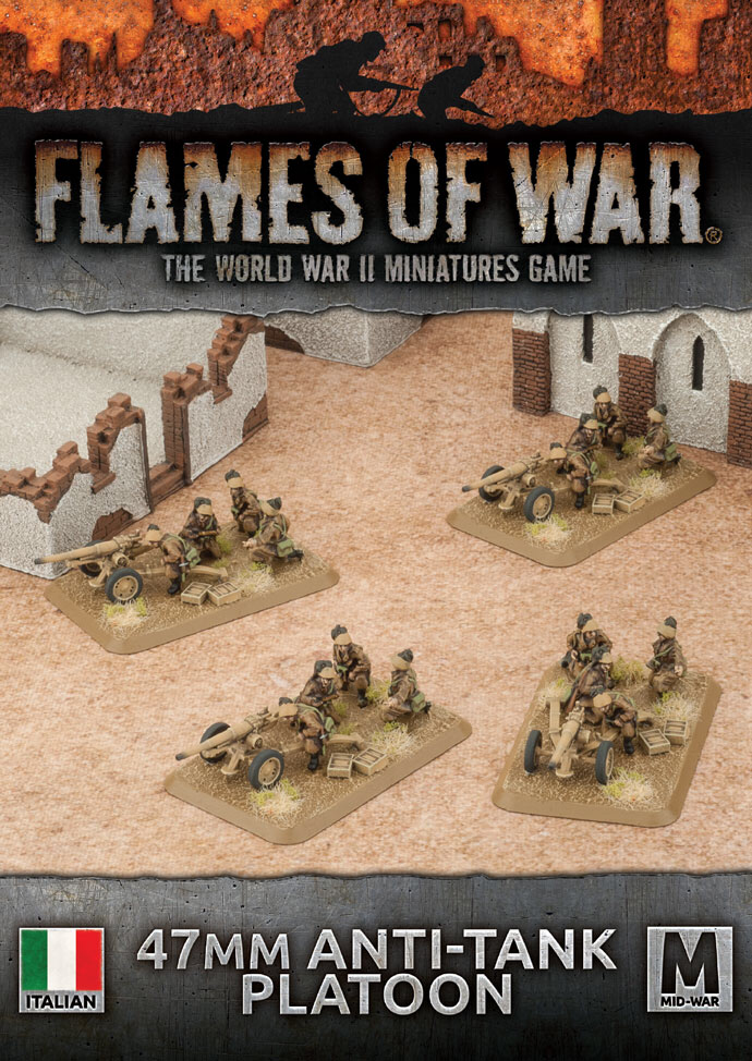 Flames of War Flames of War: Italy- 47mm Anti Tank Platoon (mid)
