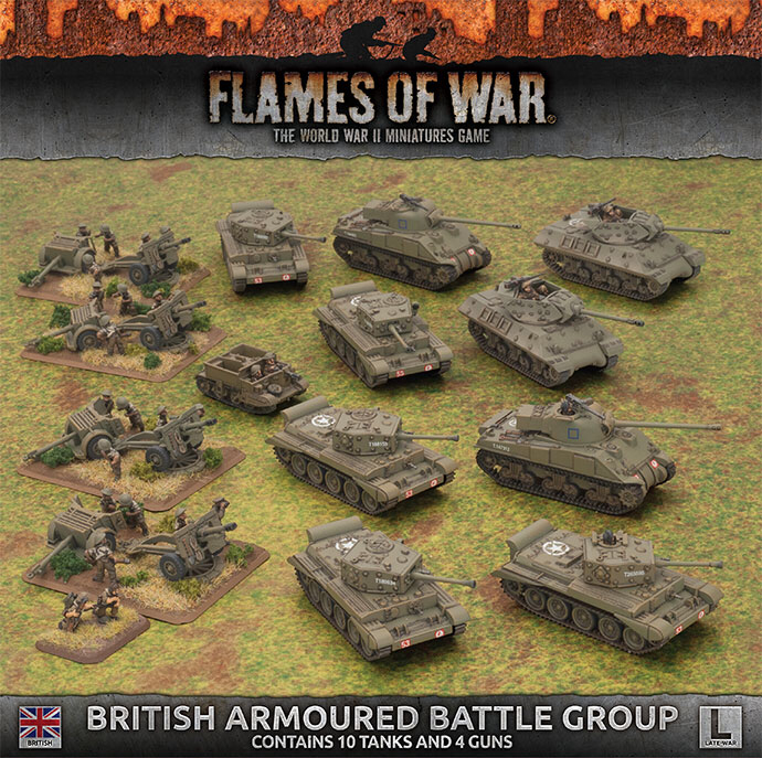 Flames of War Flames of War: British- Armoured Battle Group (late)