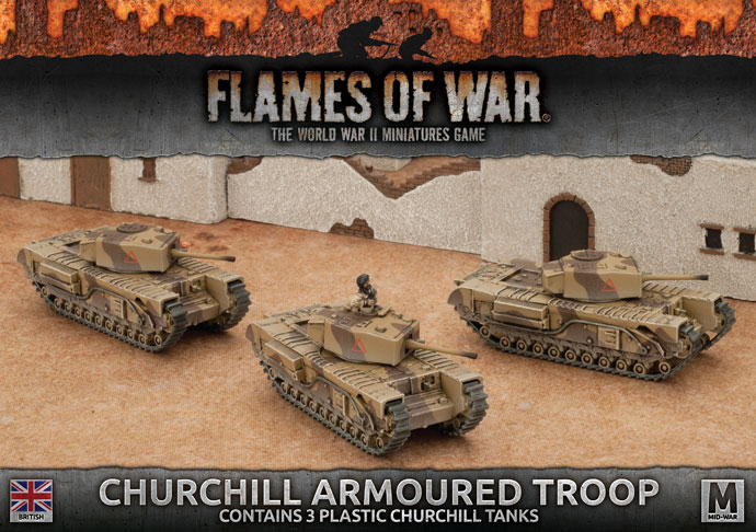 Flames of War Flames of War: British- Churchill Armoured Troop (mid)