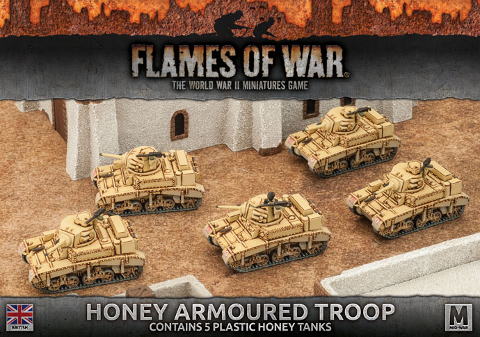 Flames of War Flames of War: British- Honey Armoured Troop (mid)