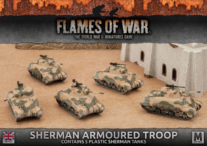Flames of War Flames of War: British-  Sherman Armoured Troop (mid)